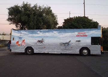 Lenticular Printing Bus Marketing